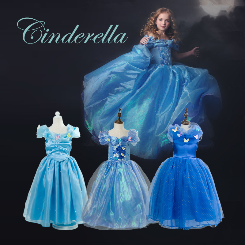 Summer Children Dresses For Girls Cinderella Costumes Princess Sofia ...
