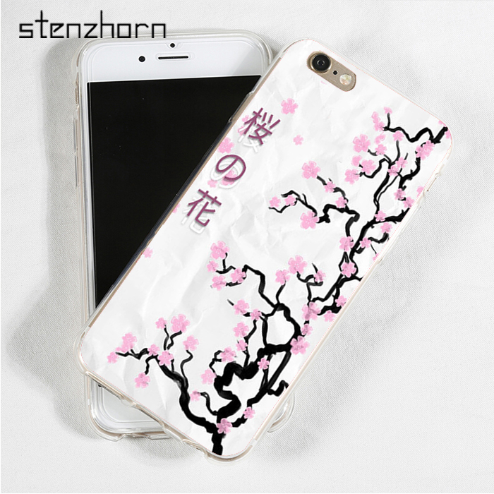 Stenzhorn Cherry Blossoms Tree Asian Japanese Symbols Soft Tpu Phone