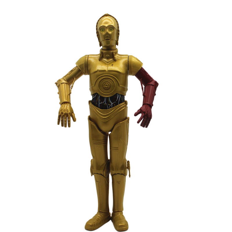 Star Wars Gold Robot C3po Collection Action Figure C-3PO figurine for Fans Holiday Gift NF5