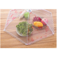 Alimentos Cubiertas al aire libre Plegable Evitar Volar Insectos Neto Plato Paraguas Mejor Prueba de polvo Cubre para la Alimentación