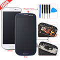 White Black Blue For Samsung Galaxy S3 i9300 LCD Display Touch Screen Digitizer+Frame+Tools Assembly Replacements Part Free Ship