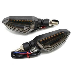 Image 3 - אוניברסלי אופנוע Motobike LED זנב אור הפעל איתותים להונדה CB CBR 300 599 600 600F 1000 1000R 1100 650F