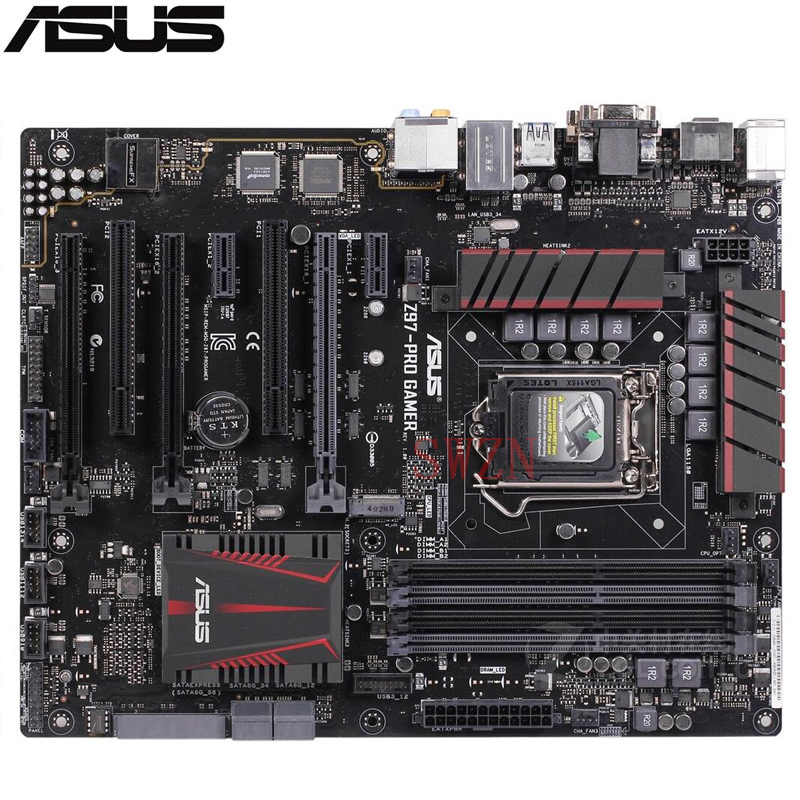 original Used Server motherboard For Asus Z97-PRO GAMER Socket 1150 I7 I5 I3 Maximum 4*DDR3 32GB 4xSATAIII 1xM.2 ATX smsl m3 black усилитель для наушников