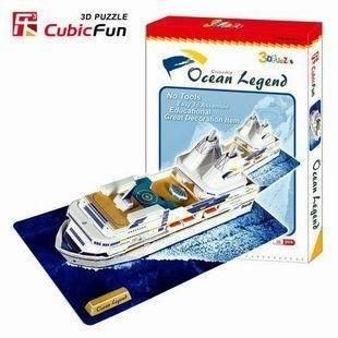 Candice guo! Hot sale 3D puzzle toy CubicFun 3D paper model jigsaw game Ocean Legend boys love most