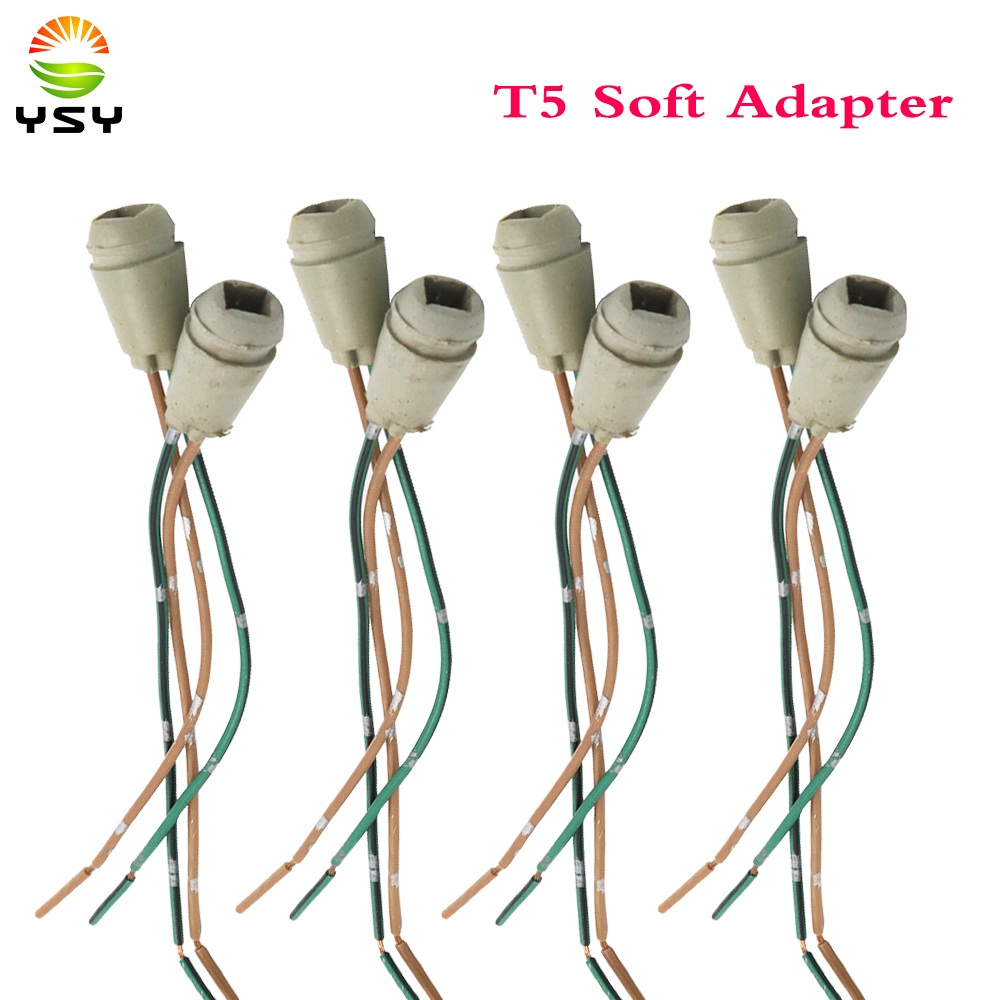 YSY 50X T5 soft adapter Connector W5W 168 194 Car Lamp Cable Auto Bulb Wire Truck Light LED Bulbs Socket car plug Dashboard