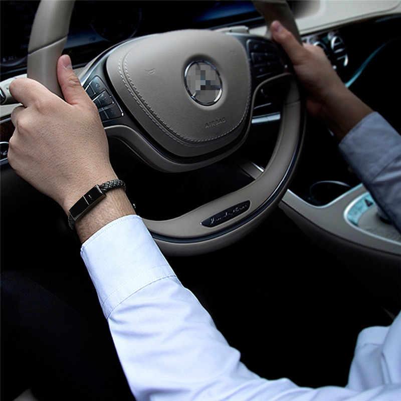 Cargador de teléfono USB rápido de viaje cargador de pulsera Cable de carga de datos Cable de sincronización para IPhone 7 6 s pulsera de acero para hombres cierre magnético