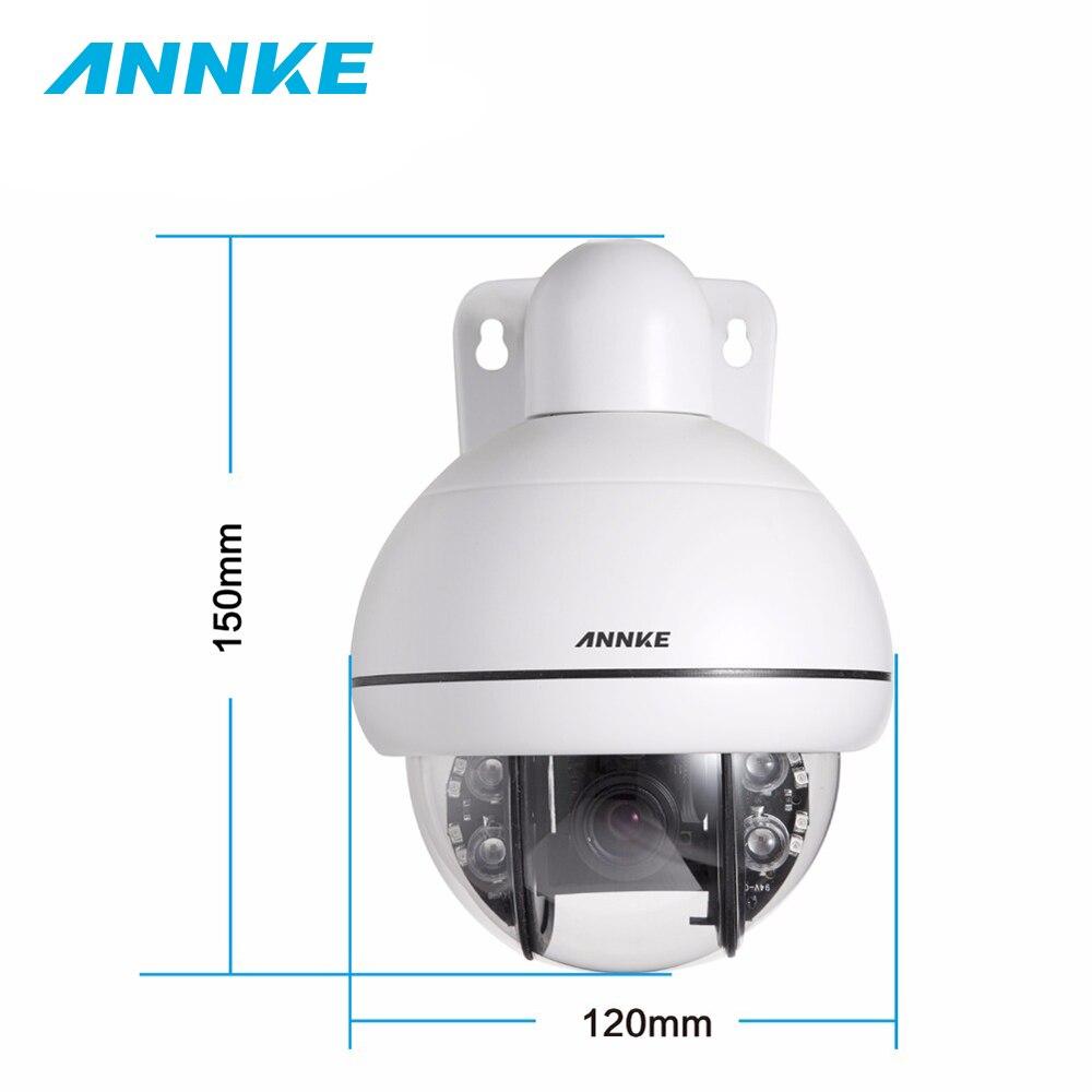ANNKE HD 720P Mini 3X Zoom PTZ IR Night Vision Monitoring Security Camera Weatherproof  IP66 Security Surveillance System Kit