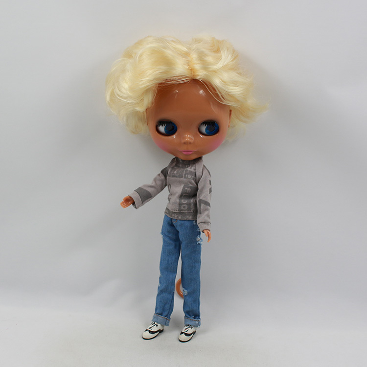 Blyth Nude Doll For Series No.75BL349 Golden Hair Suitable For DIY Change Toy For Girls цены онлайн