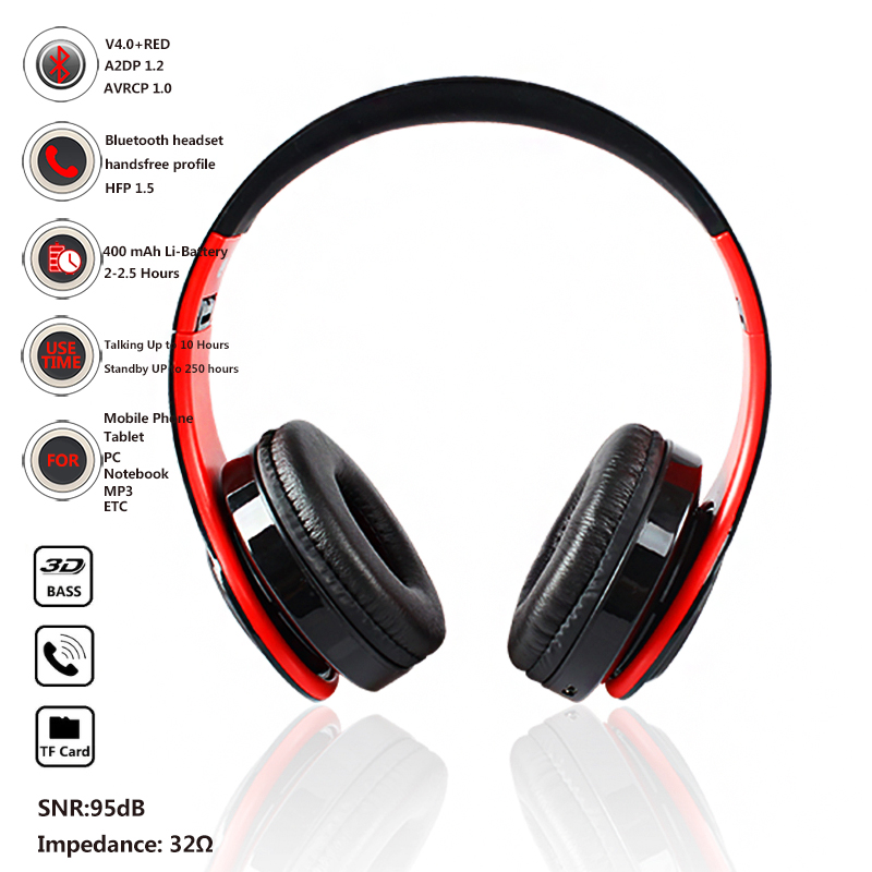 YEINDBOO Wireless Headphones Bluetooth PC Phone Music Earphone Foldable Head Earphones With Microphone For Adult And Children