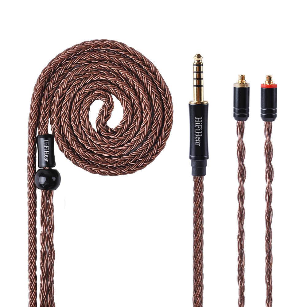 HiFiHear 16 rdzeń posrebrzany kabel 2.5/3.5/4.4mm kabel zbalansowany z MMCX/2pin dla BLON BL-03 LZ ZSX KZ ZS10 ZS6 AS10