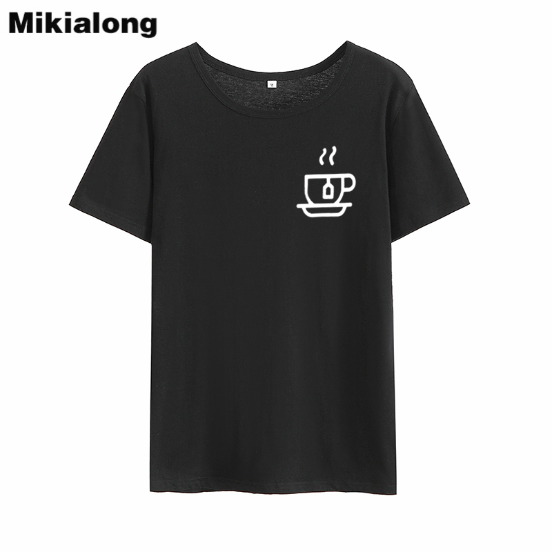 Mrs win Hot Coffee 2018 Graphic T Shirts Women Short Sleeve Casual Basic Korean Style Tee Shirt Femme Tumblr Solid Womens Tops