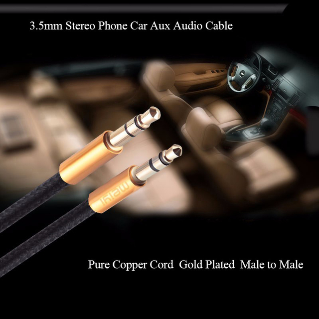 MEIYI 3.5 mm Jack Aux Audio Cable Male to Male Car Aux Cable Gold Plated Auxiliary Cable for Car / iPhones / Media Players 2