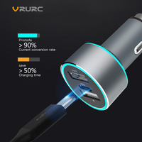 Vrurc 48W QC3.0 USB Type c PD Car Charger For iPhone X Dual USB Type C PD Quick Charge QC 3.0 Charger For Samsung S9 Xiaomi Sony
