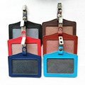 GYREKEN Genuine Leather Bank Credit Card Holders Card Bus ID Holders Identity Badge