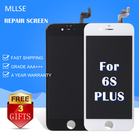 10/PCS Per iPhone 6 più 6SP Riparazione Vetro LCD Touch Screen Digitizer Qualità AAA Bianco Nero Clone Ecran Aliexpress highscreen