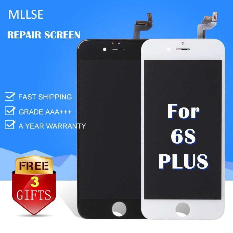 MLLSE For iPhone 6s plus LCD Touch Screen Digitizer AAA Quality White Black Repair Glass Clone Ecran Aliexpress highscreen