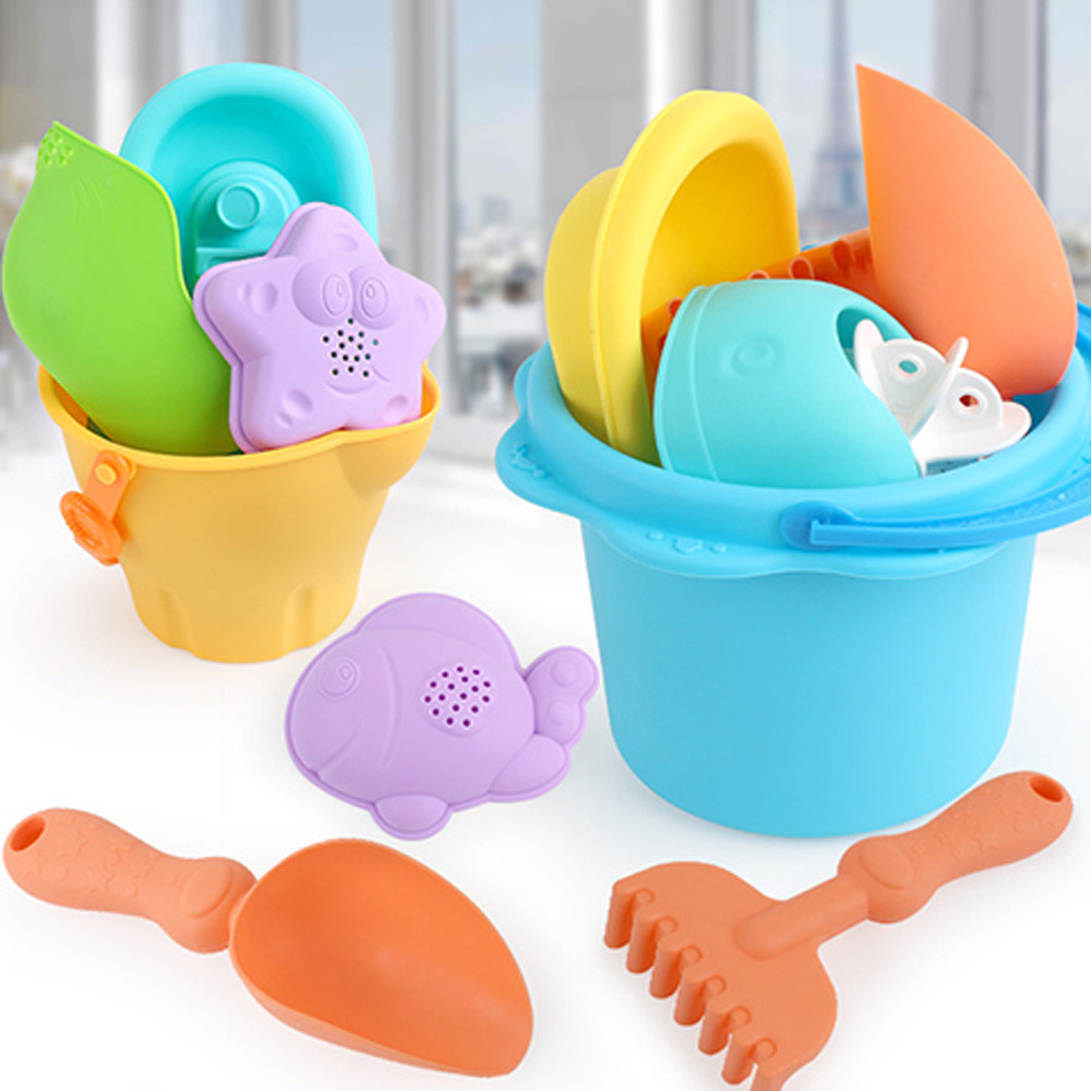 Toys & Hobbies Bath Toy Colorful Kid Sandbeach Toy 8pcs Funny Kids Bath Toy Outdoor Summer Castle Bucket Spade Shovel Rake Water Tool 30s875 Wholesale Demand Exceeding Supply