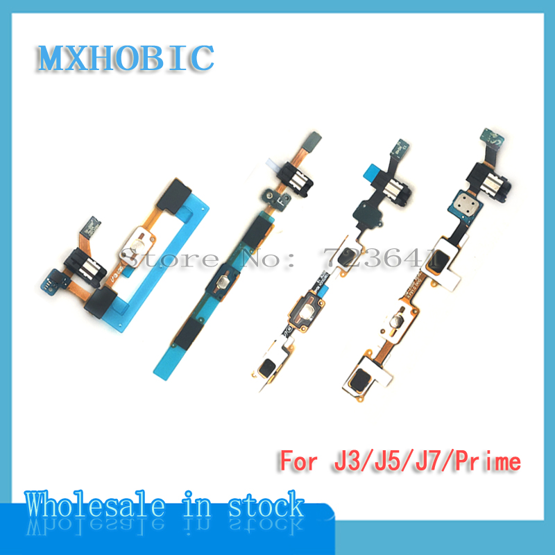 Home-Button Flex-Cable Samsung Headphone-Jack J320 Galaxy with for J310 J5 J500 J510