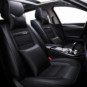 Image 2 - חדש יוקרה עור אוניברסלי רכב מושב כיסוי עבור טויוטה כל מודלים טויוטה rav4 טויוטה קורולה chr לנד קרוזר פראדו premio קאמרי