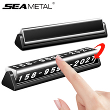 цена на Car Styling Temporary Parking Card Auto Phone Number Card Plate Car Sticker Park Stop Telephone Number In Automobile Accessories