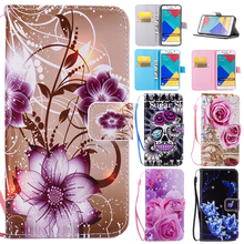 Cartoon Wallet holster Flip PU Leather Case For Samsung Galaxy Grand/Core Prime SM-G531H G361H S3 S4 S5 Neo S6 S7 Edge Cover