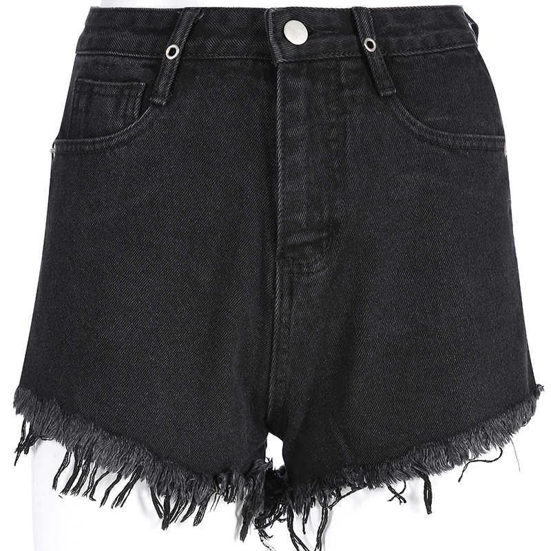 Rockmore Moda Volta Oco Das Mulheres Shorts De Algodão Botão Bolsos Com Zíper Curto Feminino Lady Hot Summer Sale 2019 Mini Cinza Calções