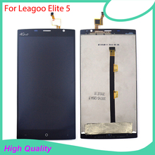 100 Original for LEAGOO Elite 5 LCD Display Touch Screen Digitizer Assembly Replacement Free Tools black