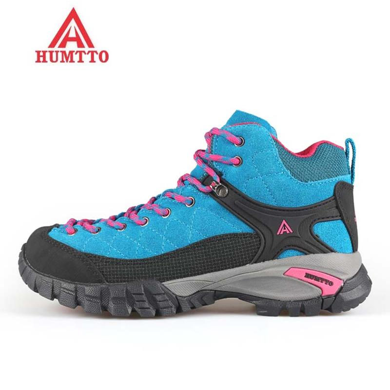 HUMTTO Women's Winter Outdoor Trekking Hiking Shoes Boots Sneakers For Women Sport Climbing Mountain Boots Shoes Sneaker Woman купить