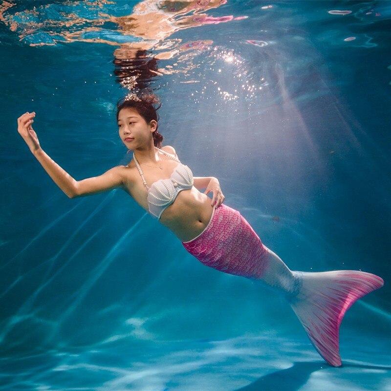 Niñas Cola de sirena para nadar Cola de sirena para adulto sin - Disfraces