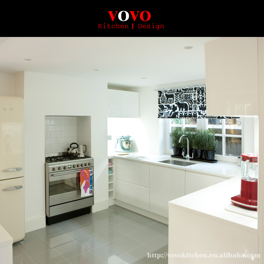 White Kitchen Cabinets Quality: High Quality Modern Design Small Kitchen In Glossy White