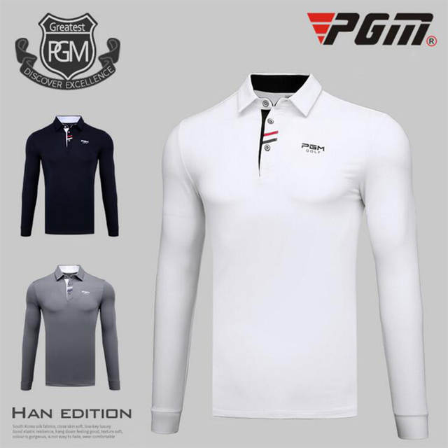 968241d8 Online Shop PGM Brand Breathable Mens Golf Shirts Outdoor Fit Polo Mens  Quick Dry Long Sleeve T-shirts Clothing Table Tennis Shirt Polyester |  Aliexpress ...
