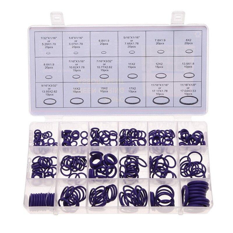 270pcs/set 18 Sizes Rubber O Ring Assortment O Ring Seals Washers ...