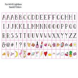 Image 4 - 合計リンクA4 A5シネマライト手紙夜の光ボックスdiyライトクリスマスホリデー除草カード & 登録 & 数字 & シンボル & グリフ
