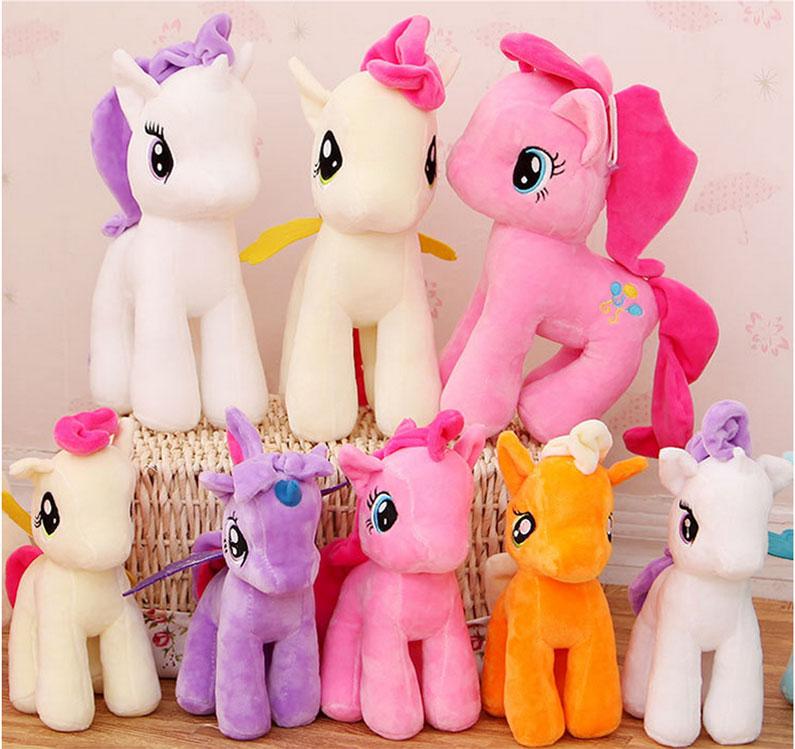 Elf rafta Sıcak 1 adet 25 cm PP pamuk at benim sevimli lovely little at Peluş oyuncaklar poni Çocuklar için bebek oyuncaklar Funko Oyuncaklar
