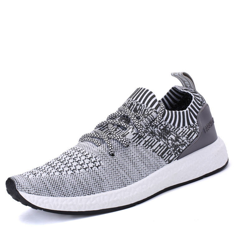ФОТО  Men Casual Shoes Fly Weave Mesh Breathable Air Cushion Sport Basket Flat Shoes Men Trainers zapatillas deportivas hombre Light