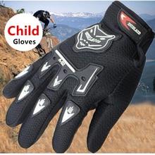 Детские летние мотоциклетные перчатки с полным пальцем, Детские Кожаные Мотоциклетные Перчатки для мотокросса Luvas, Детские гоночные Мотоциклетные Перчатки
