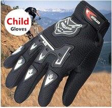 Kids Summer Full Finger Motorcycle Gloves Child Moto Luvas Motocross Leather Motorbike Guantes Children Racing Moto Gloves