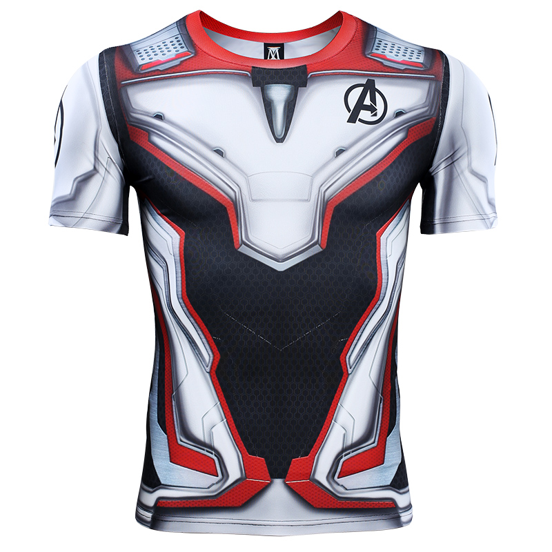 Avengers 4 Endgame Quantum War 3D Printed   T     shirts   Men Compression   Shirt   Iron man Cosplay Costume short Sleeve Tops For Male