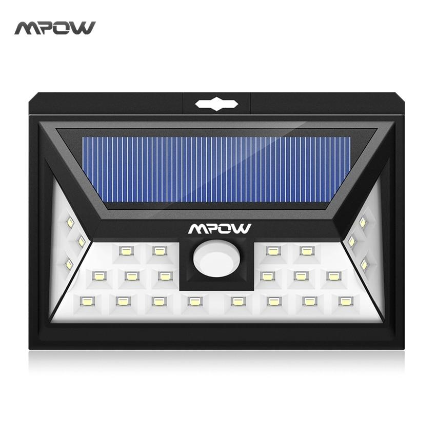 Mpow 24 LED solar licht IP65 wasserdicht Weitwinkel Sicherheit Bewegungssensor Licht mit 3 Modi Bewegung Aktiviert für Terrasse garten