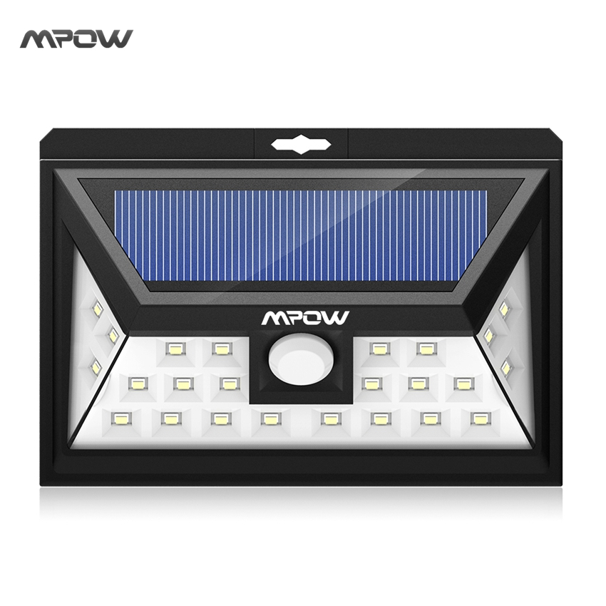 Mpow 24 LED solar light IP65 waterproof Wide Angle Security Motion Sensor Light with 3 Modes Motion Activated for Patio Garden solar motion sensor light with 60 led rechargeable wireless led security lights with 3 modes for garden patio yard driveway