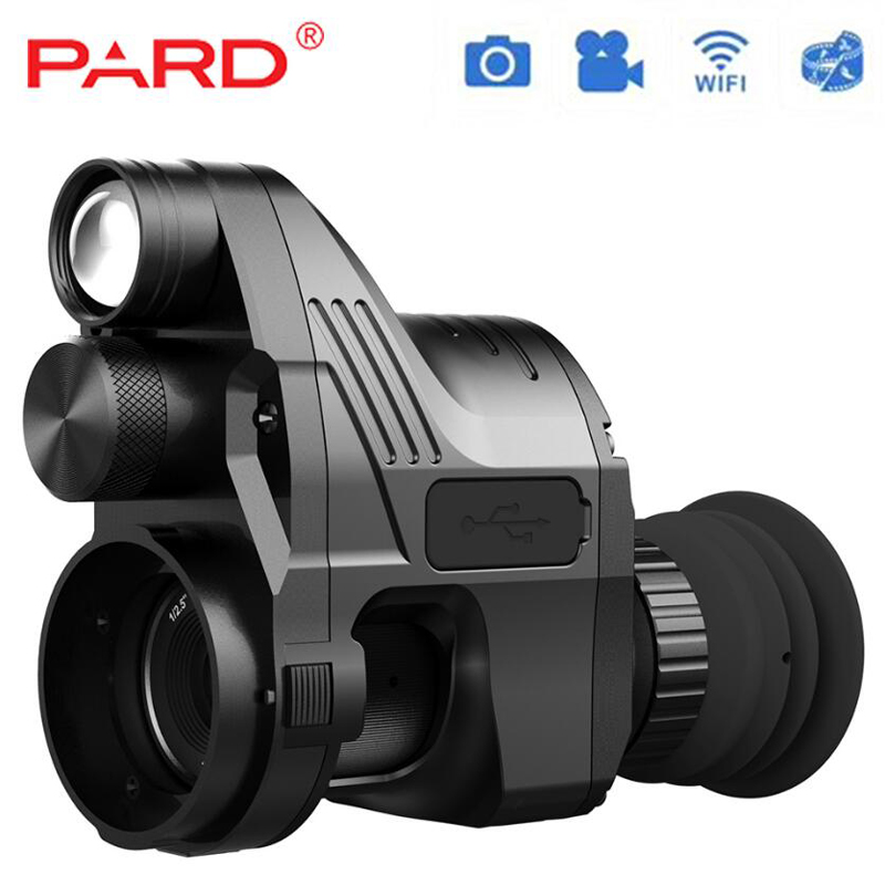 PARD Infrared Hunting Night Vision IR Monocular Telescopes Video Record Device night vision riflescope Quick disassembly free shipping gen1wake be 85 infrared dark night vision ir monocular telescopes 5x battery