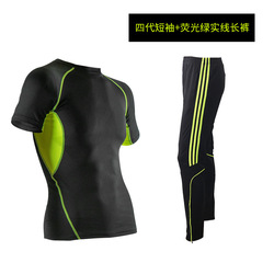 Hot 2pcs sports men s suits short sleeve shirts pants tracksuit male basketball soccer jersey training.jpg 250x250