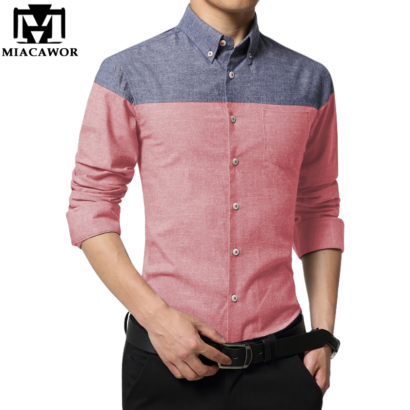 Mawon 2019 New Casual Men Shirt Fashion Brand Chemise Homme Slim Fit Dress Shirts Long-Sleeve Social Shirt Plus Size 4XL MC243