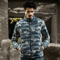 Camouflage Duck Down Coats For Men 2016 Winter Newest Military Style Slim Fit Man Parka Ultra light Homme soft Overcoats