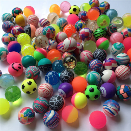 Little Ball Toys : Funny pcs mixed small bouncing ball rubber toy balls