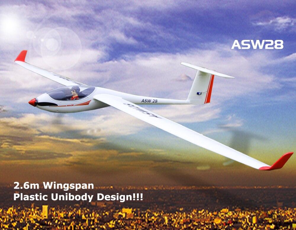 Volantex ASW28 2,6 M KIT de RC avión modelo W/O sin escobillas Motor Servo 30A ESC batería