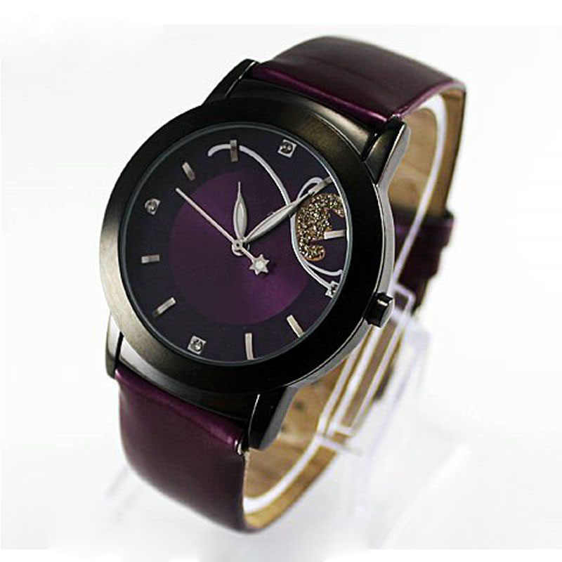 Ladies Wrist Watch Women Waterproof Fashion Casual leather band Analog Quartz Watches Unique Relojes Para Mujer Red Purple color