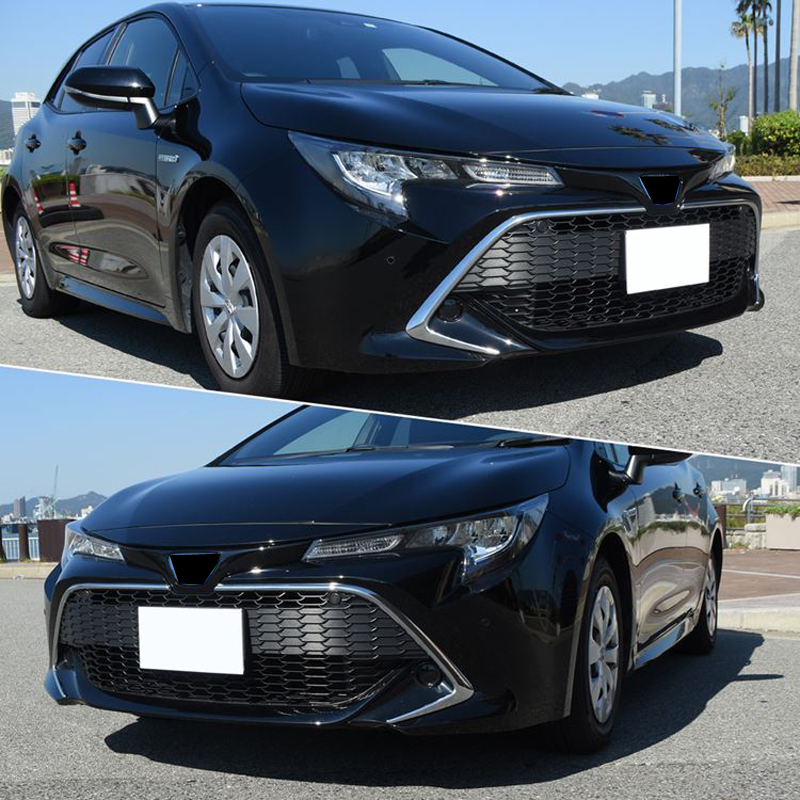 2019 Toyota Corolla Hatchback: ABS Chrome Front Center Grill Grille Frame Cover Trim 2pcs