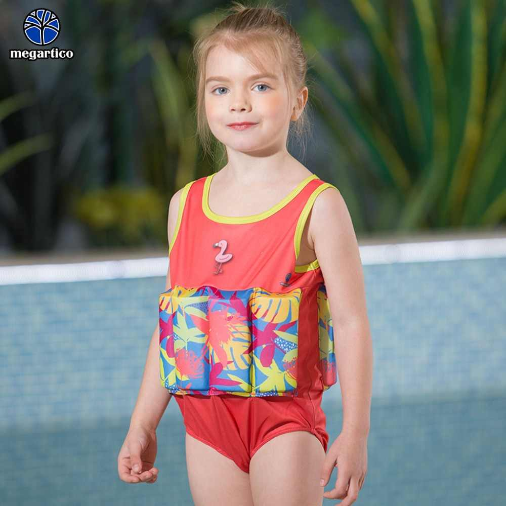 Megartico спасательный жилет детский Фламинго плавающий костюм для девочки плавучий костюм детский цельный купальник для плавания тренировочный комбинезон для пляжа