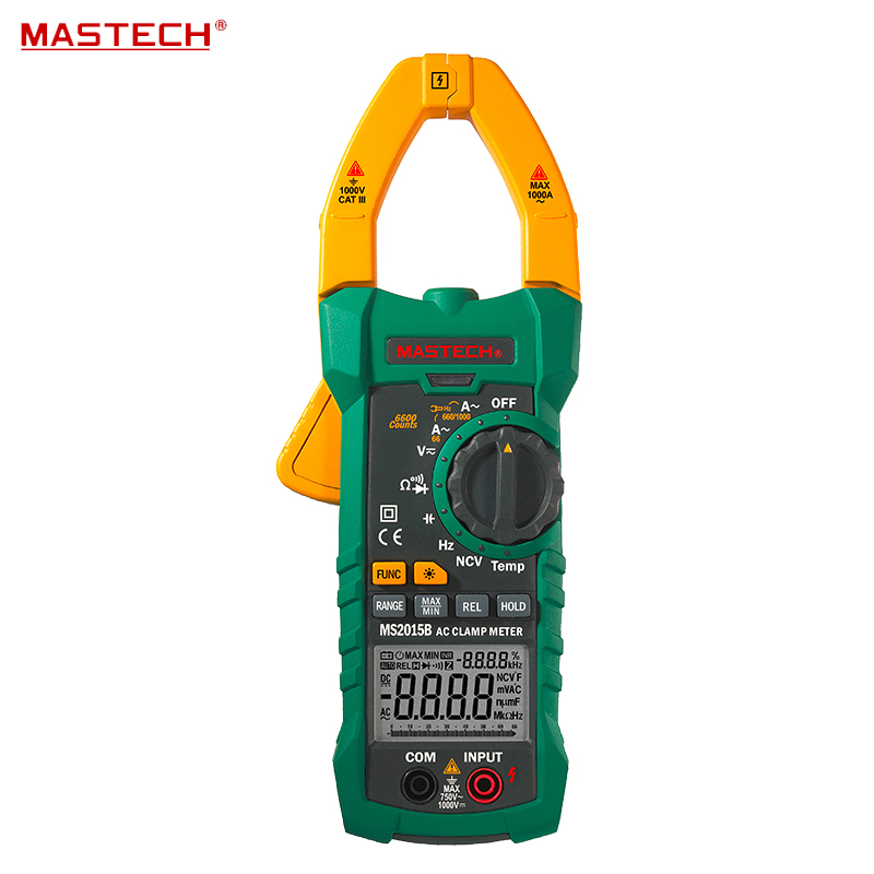 Digital Clamp On Meter Meters Frequency Resistance Capacitance Multimeter Mastech MS2015B mastech my63 digital multimeter dmm w capacitance frequency